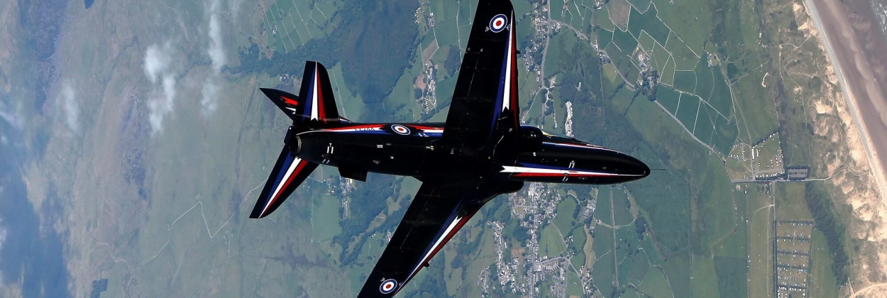 Royal Navy Hawk trainer jet crashes, two pilots eject