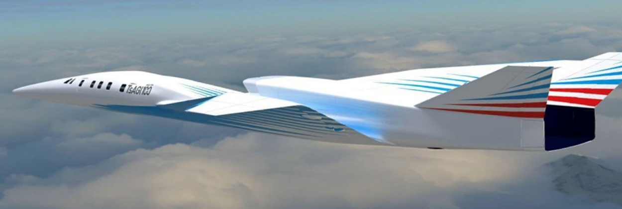 Russian supersonic business jet render
