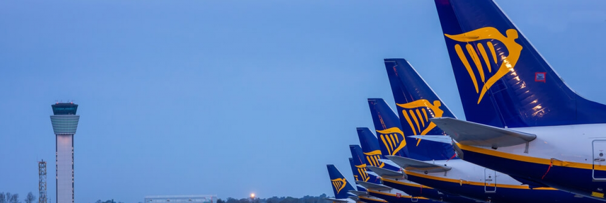 Ryanair Boeing 737 aircraft parked at Dublin Airport DUB