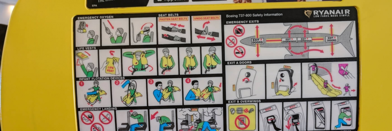 safety instructions onboard ryanair boeing 737 aerotime