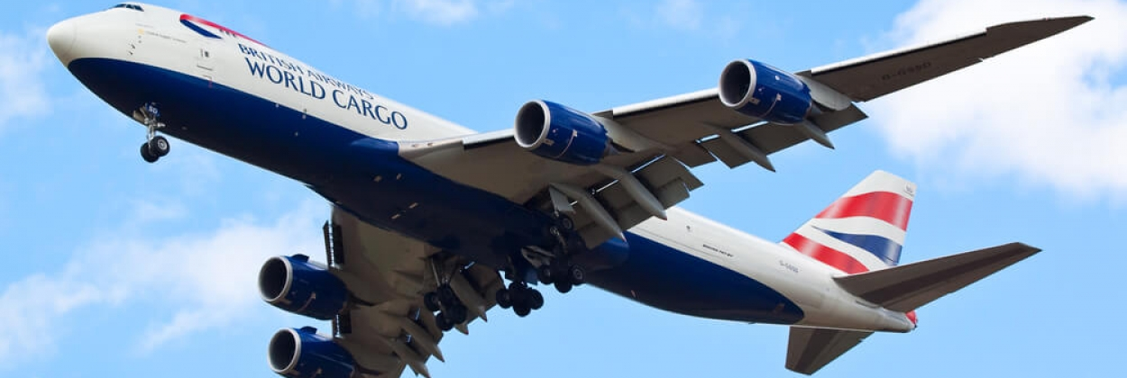 British Airways Boeing 747-8F cargo plane