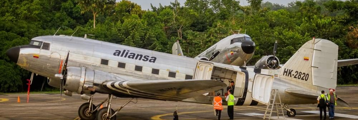 ouglas DC-3 goes missing minutes after takeoff in Colombia