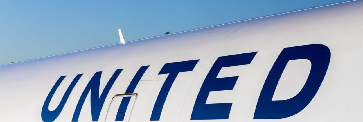 United Airlines aircraft logo at an aircraft aerotime news