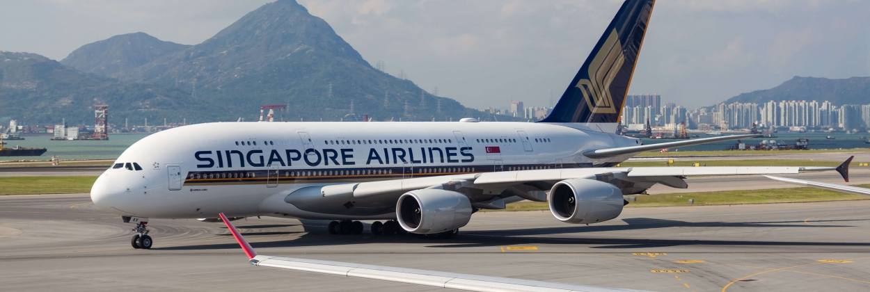 Singapore Airlines Airbus A380 heads back to Singapore