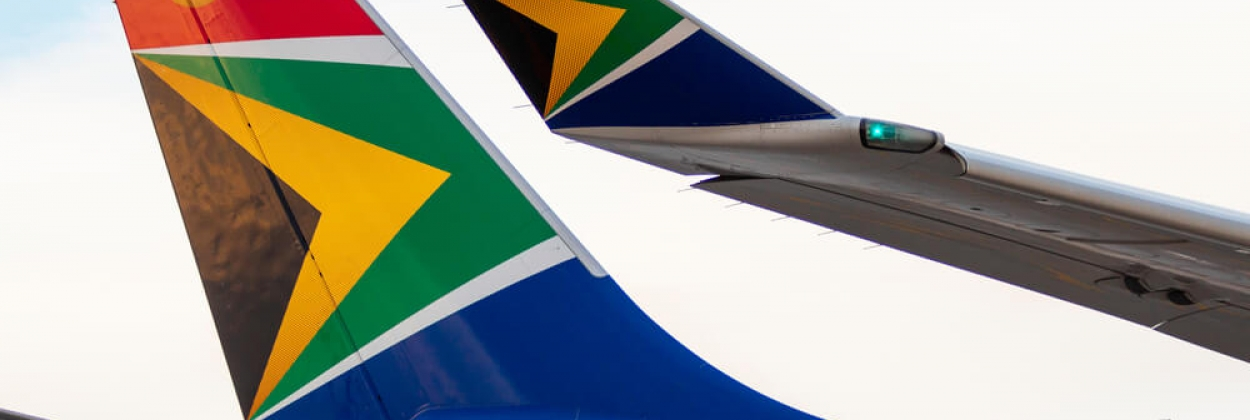 South African Airways Airbus A330 tail and winglet