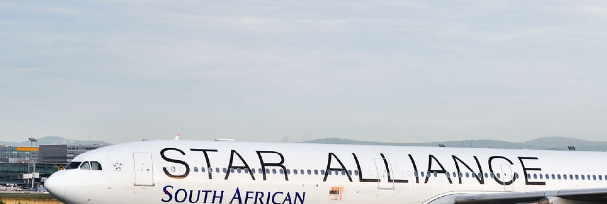 South African Airways Airbus A340 in Star Alliance livery in Fran