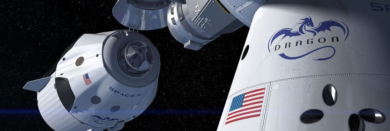 SpaceX Crew Dragon docking with the International Space Station