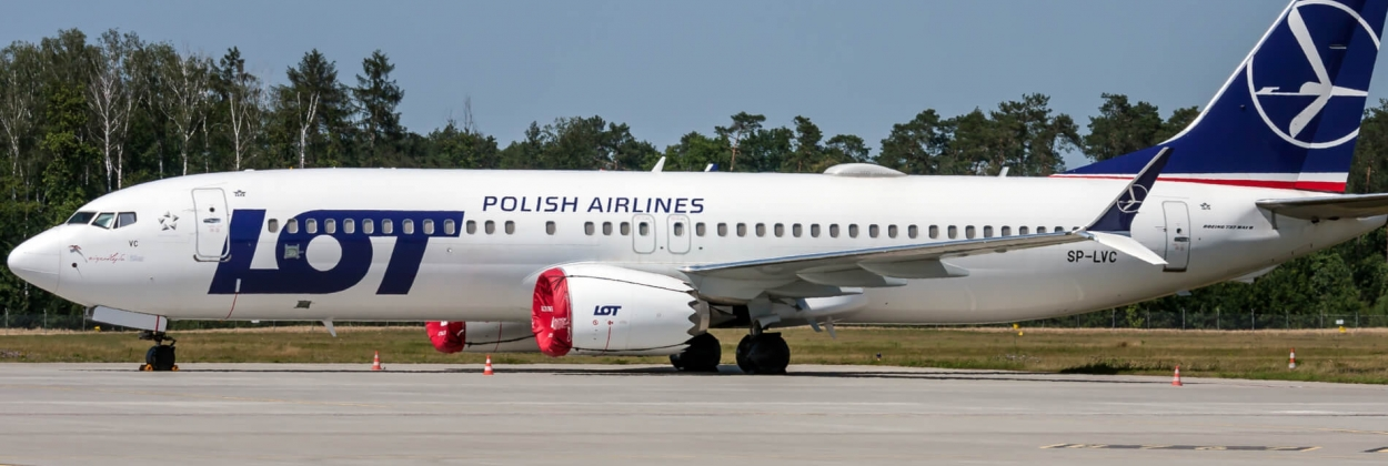 Stored LOT Polish Airlines Boeing 737 MAX