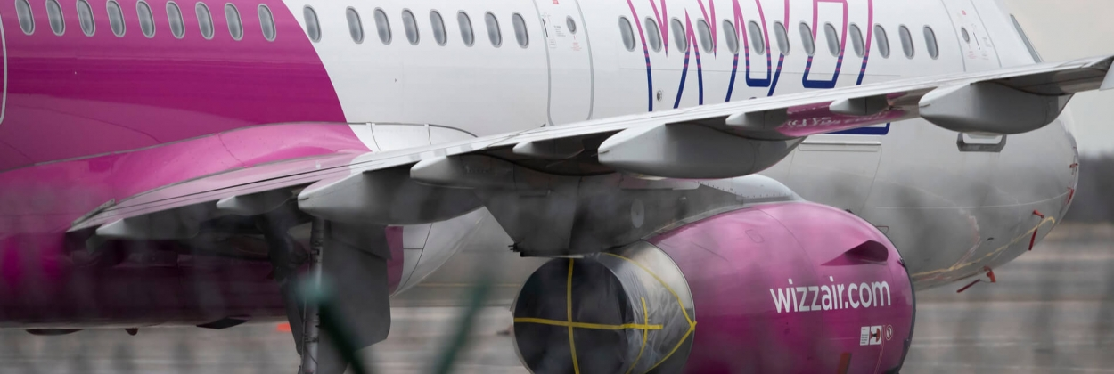 Stored Wizz Air Airbus A321 at Vilnus Airport VNO
