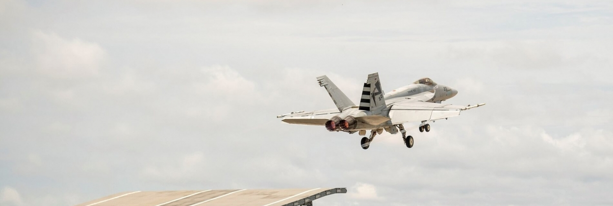 Boeing F-18 Super Hornet shows ability to ski-jump off India's carrier ramp