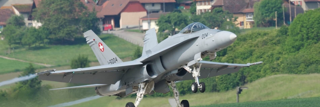 50.1% of Swiss voters approve the acquisition of new fighter jets
