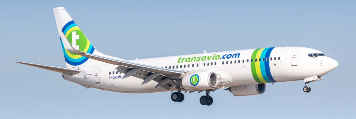 Transavia Boeing 737 landing at Paris Orly Airport ORY