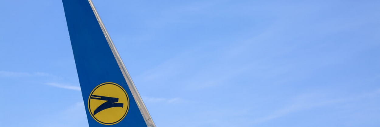 Ukraine International Airlines Logo on a Boeing 737NG winglet