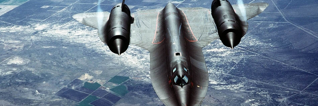 Three times faster than sound, the uncatchable SR-71 Blackbird