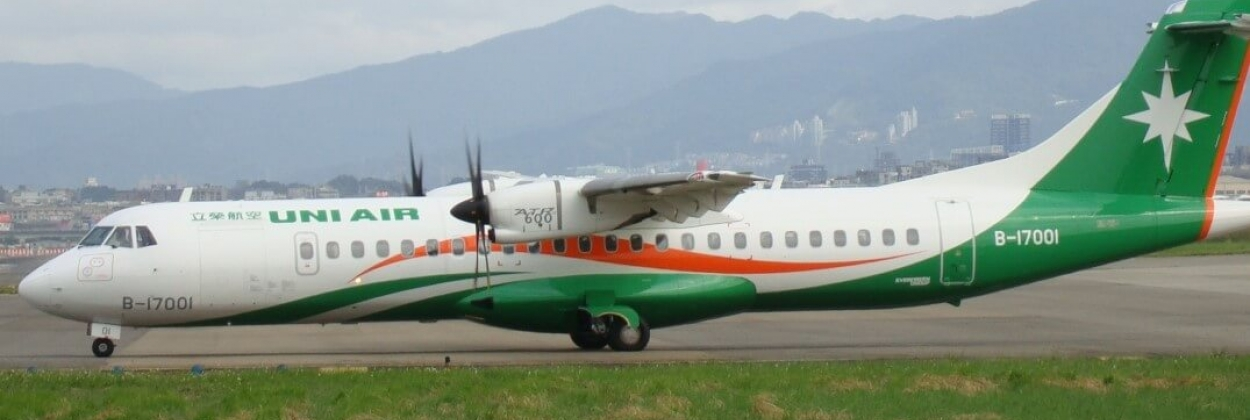 UNI Air ATR-72 makes emergency landing after double tire rupture