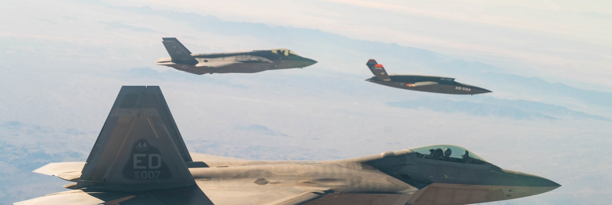 XQ-58A Valkyrie maiden sortie with F-22 and F-35