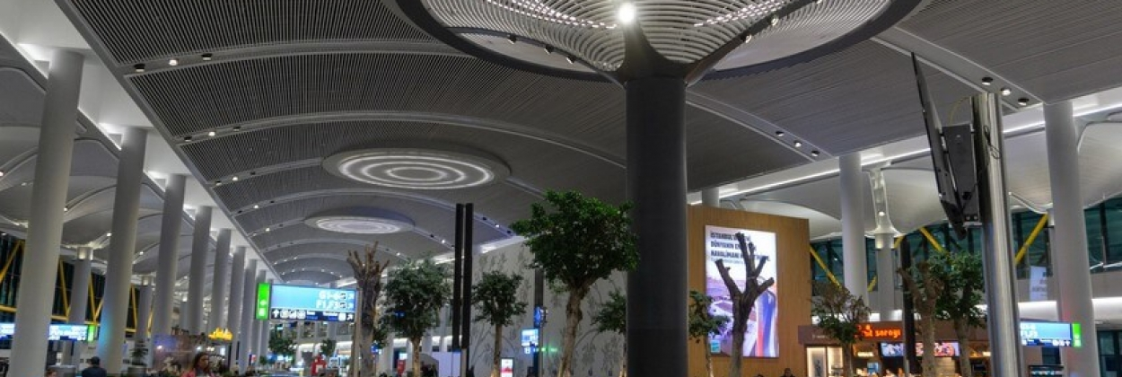 Views from the interior architecture of Istanbul new airport
