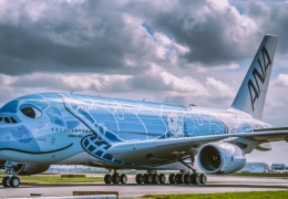 all nippon airways airbus a380 blue flying honu aerotime news