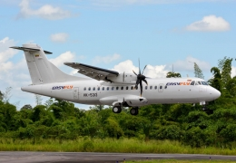 EasyFLY ATR-42 strikes airbridge at Palonegro Airport