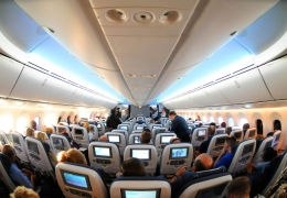 British Airways Boeing 787-8 Dreamliner economy class cabin aerotime news