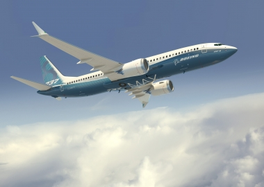 Boeing, Jackson Square Aviation sign for 30 737 MAXs