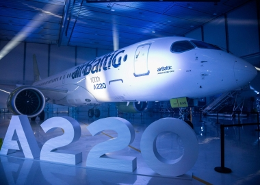 airBaltic Airbus 100th A220 airplane aerotime aviation news