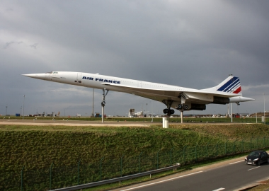 Air France Concorde on display in Paris Charles De Gaulle Airport