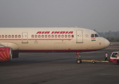 Air India Airbus A321 during push back