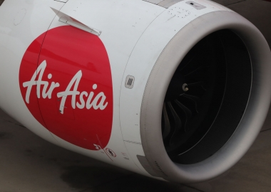 AirAsia Airbus A320 engine cowl with the AirAsia logo