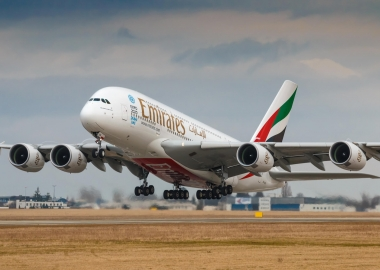 Emirates A380 with newest premium economy debut flight