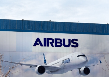 Airbus logo on Airbus building