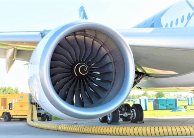 Aircraft engine Rolls-Royce Trent XWB long-range wide-body twin-e