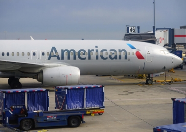 American Airlines Boeing 737 at New York John F Kennedy Internati