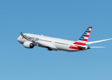 American Airlines Boeing 787 Dreamliner departing LAX