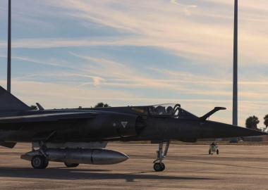 "Private Mirage F1 ""aggressor"" crashes on landing at Tyndall AFB"