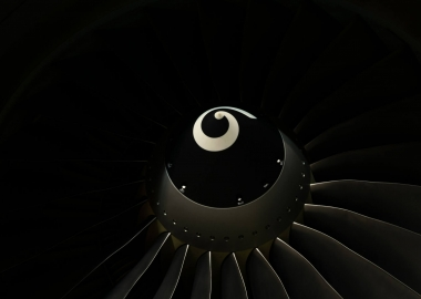 boeing 737-800 ng cfm56-7b engine's spinner and fan blades