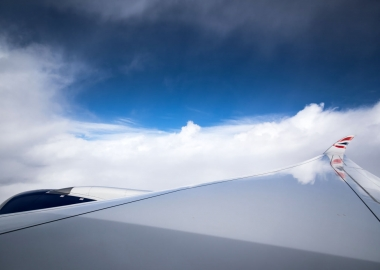 British Airways Airbus A350-1000 inflight wing view aerotime news