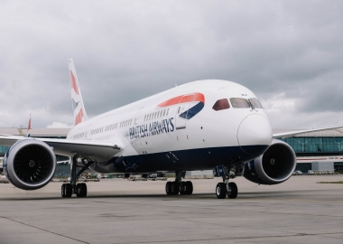 British Airways Boeing 787 Dreamliner parked at London Heathrow A