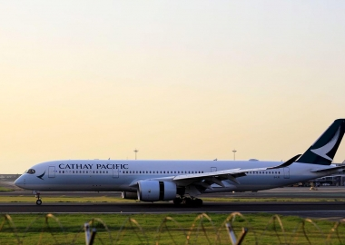 Cathay Pacific Airbus A350 breaks into tarmac at Tel Aviv Airport