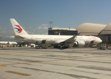 China Eastern Boeing 777 loses part of wing on take-off