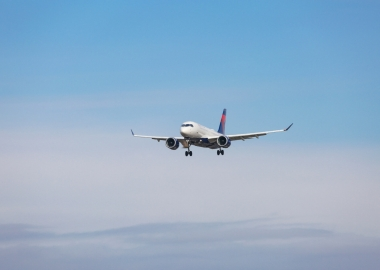 Delta Air Lines Airbus A220 landing