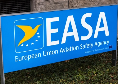 EASA logo at its headquarters in Cologne, Germany