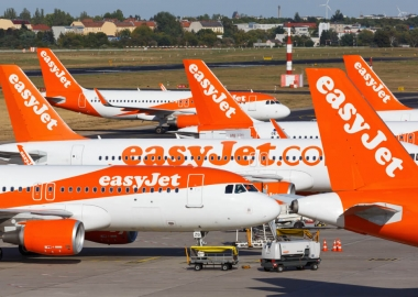 EasyJet Airbus A320 fleet at Berlin Tegel Airport TXL in Germany