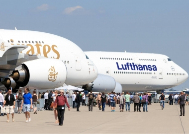 Emirates Airbus A380 and Lufthansa Boeing 747 aerotime news