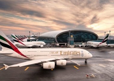 Emirates Airline aircraft at Dubai International Airport DXB