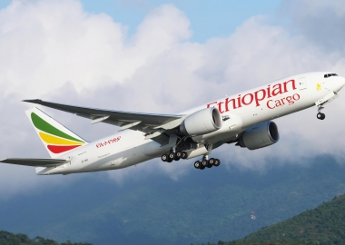 BREAKING| Ethiopian Boeing 777F catches fire in Shanghai airport