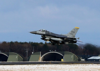 USAF F-16 accidentally releases dummy bomb in Japan