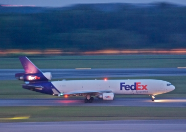 FedEx flight FX5033 overshoots runway in cyclonic storm [Video]