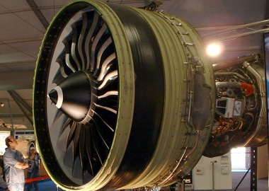 General Electric GE90 engine at Farnborough 2004