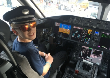 How a young enthusiast has kept in touch with aviation